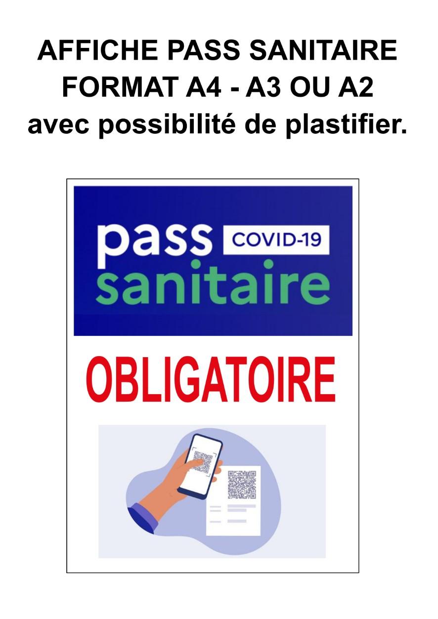 Création de vos affiches pour le pass sanitaire format A4 - A3 ou A2